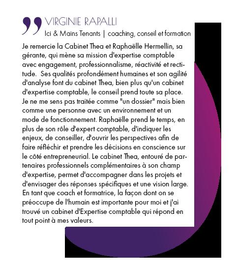 Témoignages - Virginie Rapalli